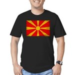 Macedonia Flag Men's Fitted T-Shirt (dark)