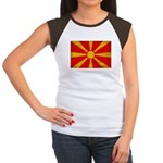 Macedonia Flag Women's Cap Sleeve T-Shirt