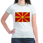 Macedonia Flag Jr. Ringer T-Shirt