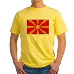 Macedonia Flag Yellow T-Shirt