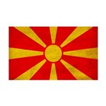 Macedonia Flag 38.5 x 24.5 Wall Peel