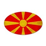 Macedonia Flag 38.5 x 24.5 Oval Wall Peel
