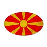 Macedonia Flag 22x14 Oval Wall Peel
