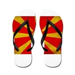 Macedonia Flag Flip Flops