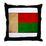 Madagascar Flag Throw Pillow