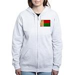 Madagascar Flag Women's Zip Hoodie