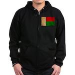 Madagascar Flag Zip Hoodie (dark)