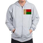 Madagascar Flag Zip Hoodie