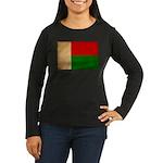 Madagascar Flag Women's Long Sleeve Dark T-Shirt