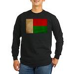 Madagascar Flag Long Sleeve Dark T-Shirt