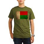 Madagascar Flag Organic Men's T-Shirt (dark)