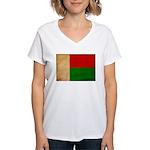 Madagascar Flag Women's V-Neck T-Shirt