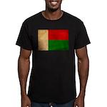 Madagascar Flag Men's Fitted T-Shirt (dark)