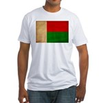 Madagascar Flag Fitted T-Shirt