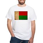 Madagascar Flag White T-Shirt