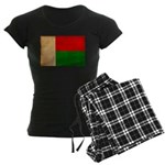 Madagascar Flag Women's Dark Pajamas