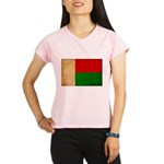 Madagascar Flag Performance Dry T-Shirt