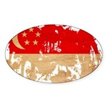 Singapore Flag Sticker (Oval 50 pk)
