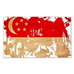 Singapore Flag Sticker (Rectangle)