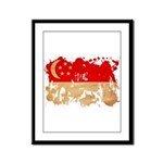 Singapore Flag Framed Panel Print