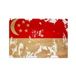 Singapore Flag Rectangle Magnet