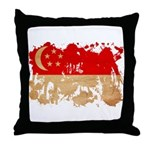 Singapore Flag Throw Pillow