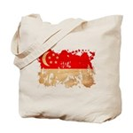 Singapore Flag Tote Bag