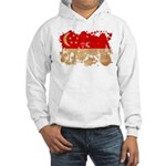 Singapore Flag Hooded Sweatshirt