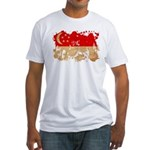 Singapore Flag Fitted T-Shirt