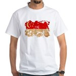 Singapore Flag White T-Shirt