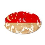 Singapore Flag 38.5 x 24.5 Oval Wall Peel