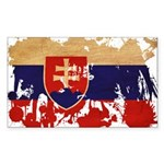Slovakia Flag Sticker (Rectangle 10 pk)