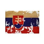 Slovakia Flag Rectangle Magnet (10 pack)
