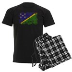 Solomon Islands Flag Men's Dark Pajamas