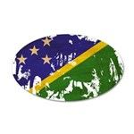 Solomon Islands Flag 38.5 x 24.5 Oval Wall Peel