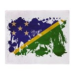 Solomon Islands Flag Throw Blanket