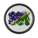 Solomon Islands Flag Large Wall Clock