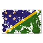 Solomon Islands Flag Sticker (Rectangle 50 pk)