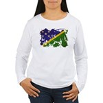 Solomon Islands Flag Women's Long Sleeve T-Shirt