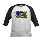 Solomon Islands Flag Kids Baseball Jersey