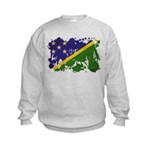 Solomon Islands Flag Kids Sweatshirt