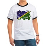 Solomon Islands Flag Ringer T