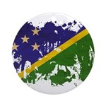 Solomon Islands Flag Ornament (Round)