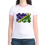 Solomon Islands Flag Jr. Ringer T-Shirt