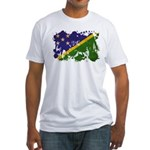 Solomon Islands Flag Fitted T-Shirt