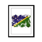 Solomon Islands Flag Framed Panel Print