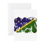 Solomon Islands Flag Greeting Cards (Pk of 10)