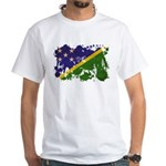 Solomon Islands Flag White T-Shirt