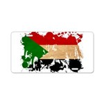 Sudan Flag Aluminum License Plate