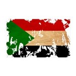 Sudan Flag 38.5 x 24.5 Wall Peel